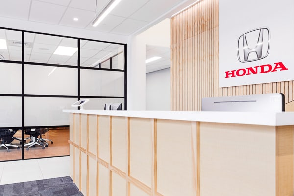 Honda Fit-out Reception with Logo