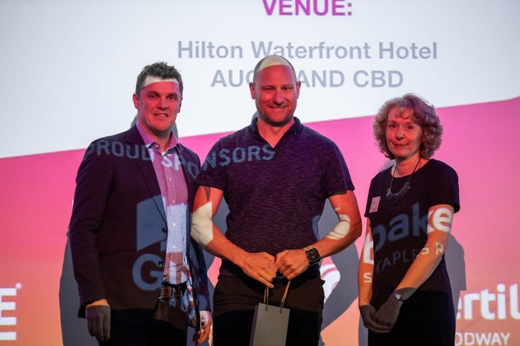 Leon Goodwin at the NZIBS Awards 2020